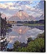 Sunrise At Oxbow Bend 4 Canvas Print by Marty Koch