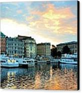 Sunrise In Stockholm Canvas Print by Jenny Hudson
