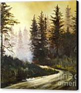 Sunrise In The Forest Canvas Print by Lee Piper