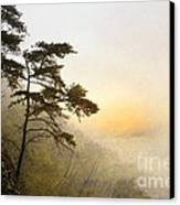Sunrise In The Mist - D004200a-a Canvas Print by Daniel Dempster