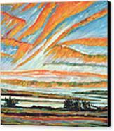 Sunrise Les Eboulements Quebec Canvas Print by Patricia Eyre