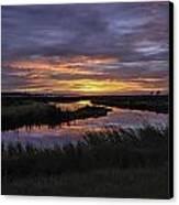Sunrise On Lake Shelby Canvas Print by Michael Thomas
