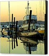 Sunrise On The Petaluma River Canvas Print by Bill Gallagher
