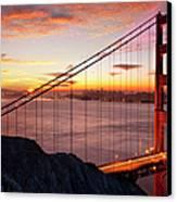 Sunrise Over The Golden Gate Bridge Canvas Print by Brian Jannsen