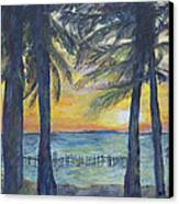 Sunset At Buho's Canvas Print by Nick Vogel
