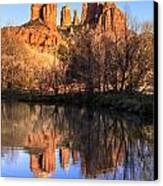 Sunset At Cathedral Rock In Sedona Az Canvas Print by Teri Virbickis