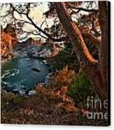 Sunset At Mcway Falls Canvas Print by Adam Jewell