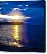 Sunset At Parksville Beach Canvas Print by Christi Kraft