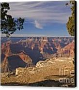 Sunset At The Grand Canyon's Hopi Point Canvas Print by Alex Cassels
