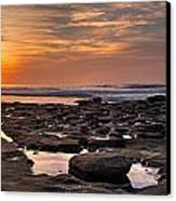 Sunset At The Tidepools II Canvas Print by Peter Tellone