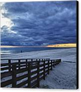 Sunset Boardwalk Canvas Print by Michael Thomas