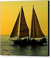 Sunset Celebration Canvas Print by Karen Wiles