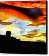 Sunset Colours Canvas Print by Ayse Deniz