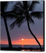 Sunset In Hawaii Canvas Print by Athala Carole Bruckner