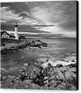 Sunset Lighthouse Canvas Print by Jon Glaser