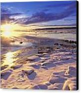 Sunset Over Knik Arm & Six Mile Creek Canvas Print by Michael DeYoung