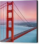 Sunset Over The Golden Gate Bridge Canvas Print by Sarit Sotangkur