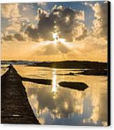 Sunset Over The Ocean I Canvas Print by Marco Oliveira