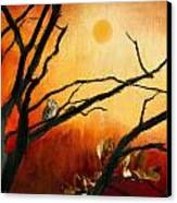 Sunset Sitting Canvas Print by Lourry Legarde