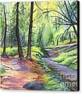 Sunset Stroll  Canvas Print by Carol Wisniewski