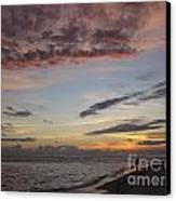 Sunset Stroll Canvas Print by Elizabeth Carr
