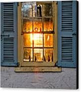 Sunset Through A Window Canvas Print by Olivier Le Queinec