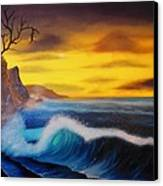Sunset Wave Canvas Print by Charles Eagle