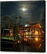 Super Moon At Nelsons Canvas Print by Michael Thomas