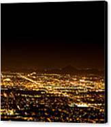 Super Moon Over Phoenix Arizona  Canvas Print by Susan Schmitz