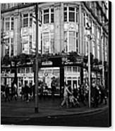 Supermacs Fast Food Restaurant Oconnell Street Dublin Republic Of Ireland Canvas Print by Joe Fox