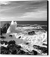 Surf At Cambria Canvas Print by Barbara Snyder