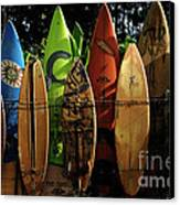 Surfboard Fence 4 Canvas Print by Bob Christopher