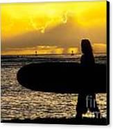 Surfer Dude Canvas Print by Juli Scalzi