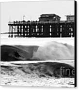 Surfer In Motion Canvas Print by Paul Topp