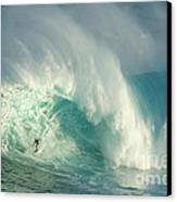 Surfing Jaws 3 Canvas Print by Bob Christopher