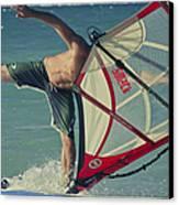 Surfing Kanaha Maui Hawaii Canvas Print by Sharon Mau