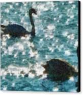 Swan Lake Canvas Print by Ayse Deniz