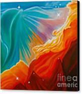 Swan Nebula Canvas Print by Barbara McMahon