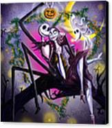 Sweet Loving Dreams In Halloween Night Canvas Print by Alessandro Della Pietra