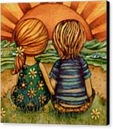 Sweethearts Canvas Print by Karin Taylor