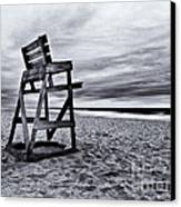 Swim At Your Own Risk Canvas Print by Mark Miller