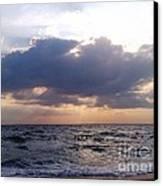 Swim Before Storm Canvas Print by Patrick Mancini