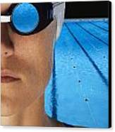 Swimmer With Goggles Canvas Print by Don Hammond