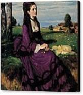 Szinyei Merse Pal, Portrait Of A Woman Canvas Print by Everett