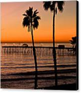 T Street Pier San Clemente California From The Book My Ocean Canvas Print by Artist and Photographer Laura Wrede