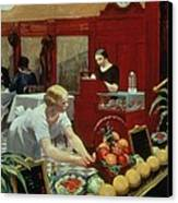 Tables For Ladies Canvas Print by Edward Hopper