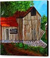 Tafoya's Old Sawmill In Colorado Canvas Print by Janis  Tafoya