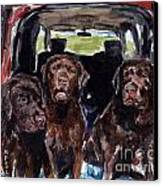 Tailgaters Canvas Print by Molly Poole