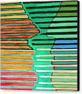 Talking Heads Canvas Print by Diane Fine