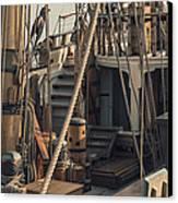 Tall Ship Kalmar Nyckel Ropes Canvas Print by Dapixara Art